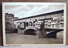 Firenze - Ponte Vecchio [grande, b/n, viaggiata]