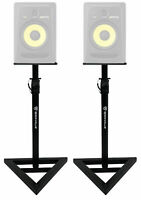 2 Rockville Adjustable Studio Monitor Speaker Stands For KRK ROKIT 8 G3 Monitors
