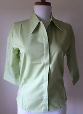 NEW Kustom Kit Light Pale Pastel Green Blouse Work Easy Care 8 10 12 13 16 18