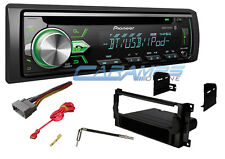 PIONEER BLUETOOTH CAR STEREO CD PLAYER RECEIVER WITH INSTALL DASH KIT & HARNESS