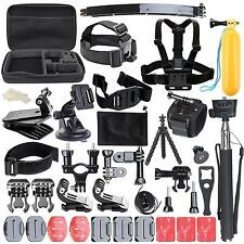 50 in 1 Pole Head Chest Mount Strap GoPro Hero 2 3 4 Camera Accessories Set Kit*