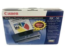 NEW Sealed PORTABLE Canon BJC-50 Compact Lightweight Color Bubble Inkjet Printer
