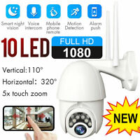 1080P HD IP CCTV Camera Waterproof Outdoor Wireless WiFi PTZ Security IR Cam NVR