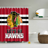 Lets Go Hawks Chicago Blackhawks Waterproof Polyester Bathroom Shower Curtain