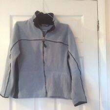 Campagnolo ladies fleece jacket light blue with navy blue trim (size 10/12
