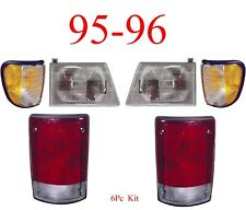 95 96 Ford Econoline 6Pc Head, Side & Tail Light Kit, E150, E250 E350