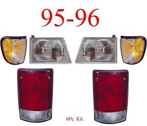 95 96 Ford Econoline 6Pc Head, Side & Tail Light Kit, E150, E250 E350