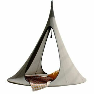 Indoor/outdoor Cacoon Songo Vido twin openings hanging chair -Earth- relax @home