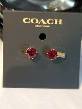 Coach Wizard of OZ RUBY EARRINGS (F38035) RED/GOLD NWT $55