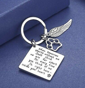 Loss of Pet Keychain Pet Memorial Keychain Jewelry Pet Keychain Keyring