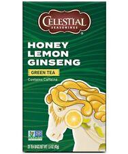 Celestial Seasonings Tea Honey Lemon Ginseng Green Tea 20 ea (Pack of 3)