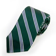 Brooks Brothers Green Stripe English Silk Tie 14454