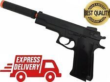 250FPS Best Quality Spring Pistol Metal Bore Hand Gun Airsoft w/ Mock Extension