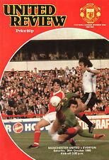 1980/81 Manchester United v Everton, Division 1, PERFECT CONDITION