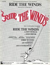 """John Driver """"RIDE THE WINDS"""" Irving Lee / Chip Zien 1974 FLOP Sheet Music"""