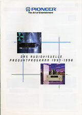 PIONEER Catalogo Prospetto 1997-1998, HIFI, Home Cinema pd-s06 a-06 a-07 m-73 c-73