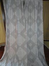 CYNTHIA ROWLEY GRAY WHITE MEDALLION (PAIR) HIDDEN TAB TOP DRAPERY PANELS 40 X 96