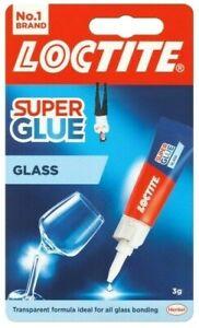 1 x Loctite Super Glue Glass Adhesives Bond Quick Clear Crystal Bonding 3ml