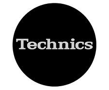 Magma Technics Black & Silver Slipmats Simple T2 Logo (Pack of 2)