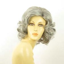 Parrucca donna ricci semi lunga grigio : trycia 51