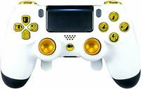 WHITE GOLD CUSTOM PRO ELITE PLAYSTATION 4 CONTROLLER PADDLES PS4 MODDED REMAP