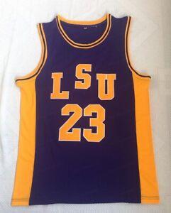 Pete Maravich #23 LSU College Basketball Jersey Stitched Purple S-2XL