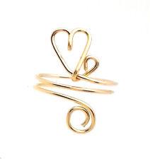 Gold Filled Floating Heart Toe Ring 14 k