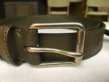 Burberry Men's Mark Embossed-Check Leather Belt