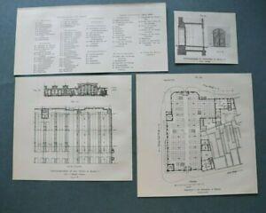 SHA) 12x Breslau Polen 1909 Schlachthof Markthalle Viehmarkt Architektur 18x26cm