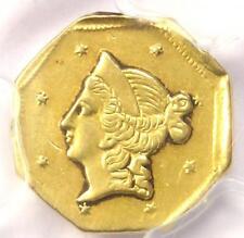 1853 Liberty California Gold Dollar G$1 Coin BG-519 - Certified PCGS AU Details!