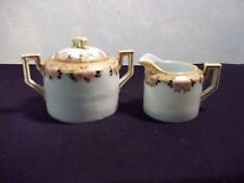 CREAM AND SUGAR HAND PAINTED NIPPON