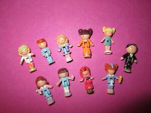 Polly Pocket ♥ 10 x Süße kleine Ersatz Figuren ♥ Püppchen ♥ Bluebird ♥ ca. 2cm