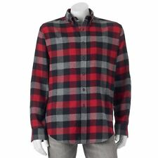 Big & Tall Classic Active Plaid Flannel Shirt Mens Size 2XLT Tall NWT