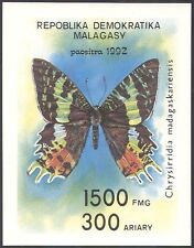 Madagascar 1992 Moths/Butterflies/Insects/Nature/Conservation imperf m/s (s263)