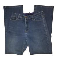 NYDJ Not Your Daughter's Jeans Women's Size 10 Medium Wash Blue Straight Denim