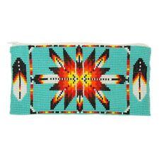 BG111-231 Coin Purse Wallet Bag Hand Beaded Native Sunburst Design Turquoise Sun