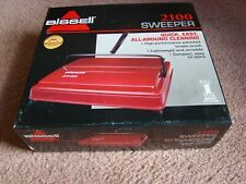 Bissell Model 2100 Carpet Sweeper Red NEW in box (2)