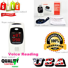 New Finger tip Pulse Oximeter Talking speak Blood Oxygen SpO2 PR HR Monitor,USA
