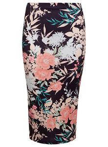 EX Miss Selfridge LADIES WOMENS Floral Pencil Skirt RRP £29.99  - 6 8 10 12 14