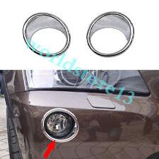 2pcs Chrome Front Fog Light Lamp Cover Upper Trim for BMW X3 F25 2011-2017