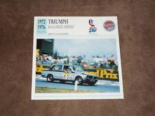 Andy ROUSE - Triumph Dolomite Sprint (1972/76), CZE Karte/card 14x14 cm