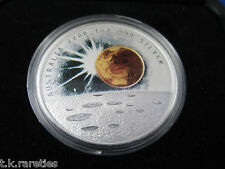 2000 1oz SILVER with Gold Printed Moon MILLENNIUM PROOF LIKE $1 ONE DOLLAR COIN