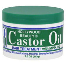 Hollywood Beauty Castor Oil Hair Treatment, with Mink Oil 7.5 oz (Pack of 6)
