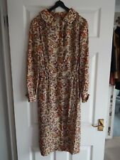 Vintage Handmade Dress from Vogue Pattern Lovely Size 10 Brown Multi Paisley