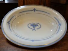 "Vintage Regal Lamberton Ivory China Puritan Fleur de Lis Oval 10""  Serving Bowl"