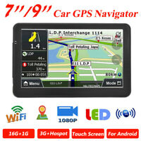 "Android 5.1 9"" 16GB HD Touch Car GPS Navigator Bluetooth Truck Navigation System"