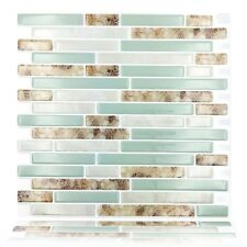 "4x Self Adhesive 3d Wall Tile Peel and Stick Backsplash for Kitchen , 10.5""x10"""