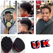Double Sides Oval Magic Twist Hair Sponge Afro Wave Hair Curl Sponge Brush UK #