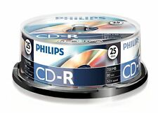 Philips CD-R 80 Minutes 700MB 52X Speed Blank Recordable Discs - 25 Pack Spindle