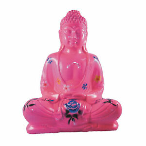 My Family House Buddha Flower Statue - Resin - Hand Painted